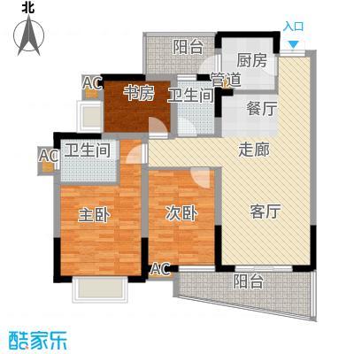 上海城89.83㎡31号楼(05)面积8983m户型