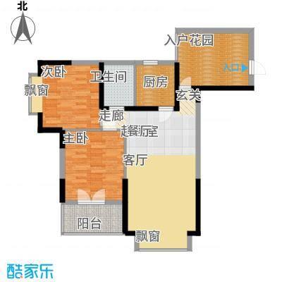 香草天空66.51㎡M型1面积6651m户型