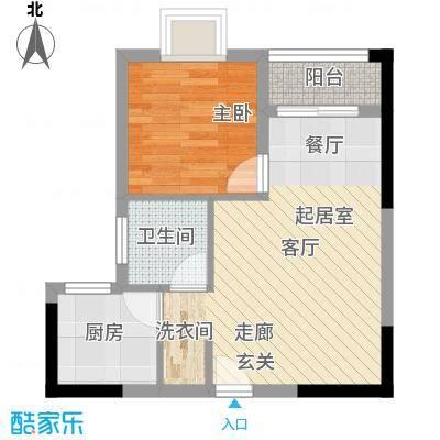 聚维书香世家40.74㎡5面积4074m户型
