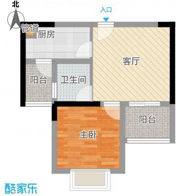 岭秀枫景39.92㎡A型双阳台1面积3992m户型
