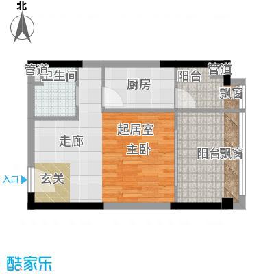 亚太商谷37.50㎡三期17栋标准层面积3750m户型