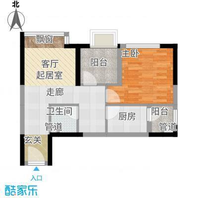 亚太商谷44.47㎡三期5、8号楼标面积4447m户型
