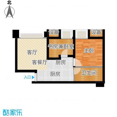 亚太商谷44.35㎡A7栋-L(售完面积4435m户型