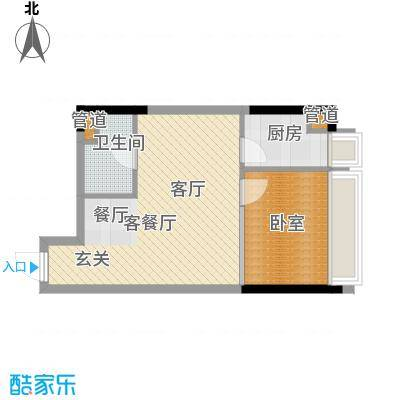 亚太商谷39.19㎡三期8栋标准层1面积3919m户型