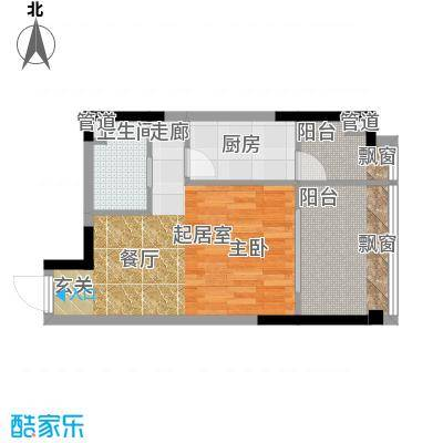亚太商谷39.19㎡三期17栋标准层面积3919m户型