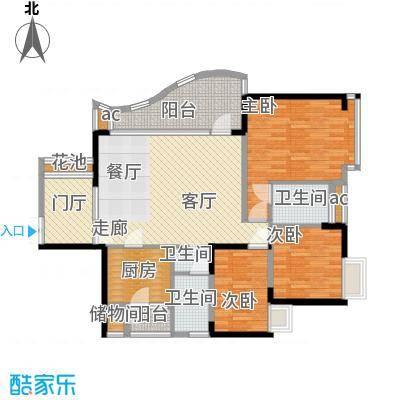 华宇江南枫庭107.01㎡3面积10701m户型