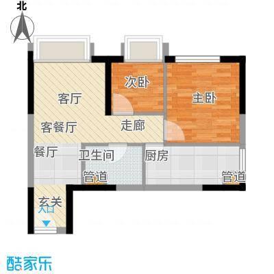 亚太商谷44.47㎡三期8栋标准层5面积4447m户型