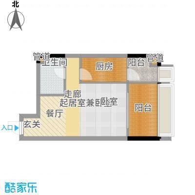 亚太商谷39.19㎡三期23幢标准层面积3919m户型