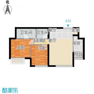 渝南佳苑80.00㎡面积8000m户型