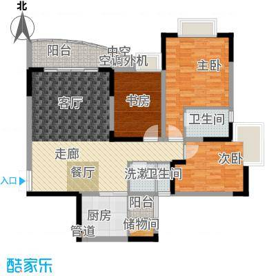 阳光汇1.20㎡四号楼12号房面积10085m户型