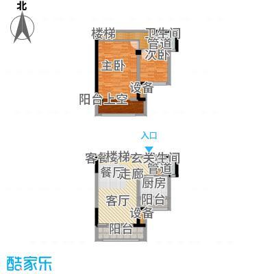 融创御锦62.00㎡二期1-7号楼标准面积6200m户型