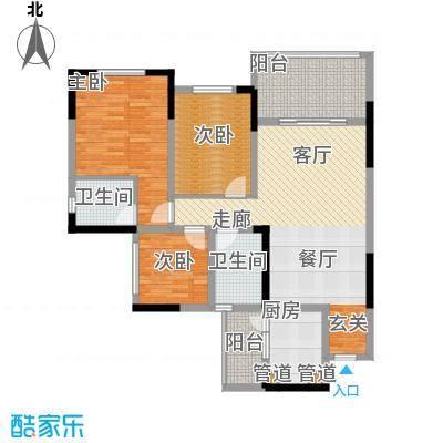 金科10年城92.13㎡二期D5号楼1-面积9213m户型