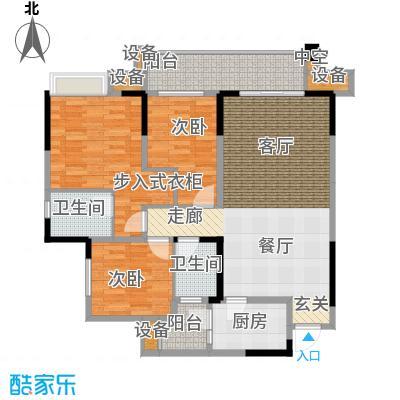 旭辉新里城95.17㎡二期53/58号楼面积9517m户型