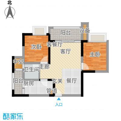 融创御锦62.90㎡二期1-7号楼标准面积6290m户型