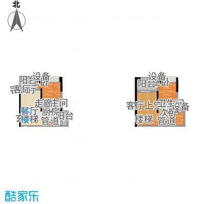 融创御锦62.04㎡1期1/2号楼D面积6204m户型