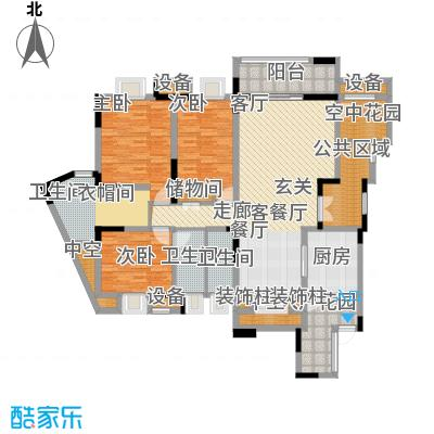 融创御锦134.97㎡1期3-2号楼2-4层面积13497m户型