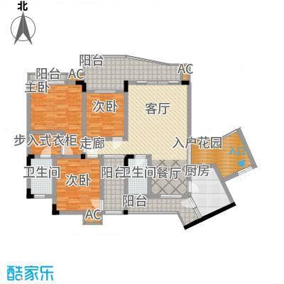 金香林112.79㎡1号楼标准层15号面积11279m户型