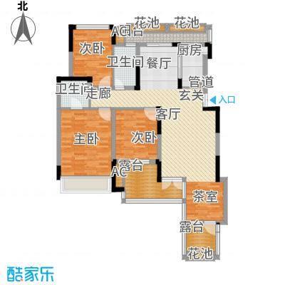 同创高原111.00㎡时尚洋房D3面积11100m户型