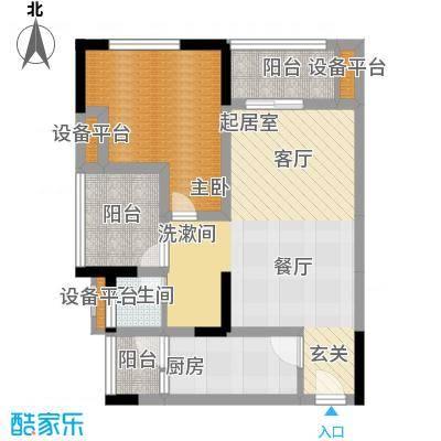 商社时代峰汇地块67.90㎡一期2号楼标准层A-2户型