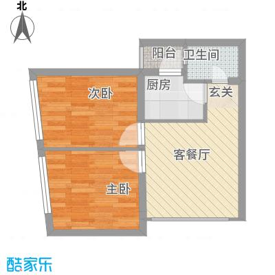 华彩俊豪53.14㎡2X2I面积5314m户型