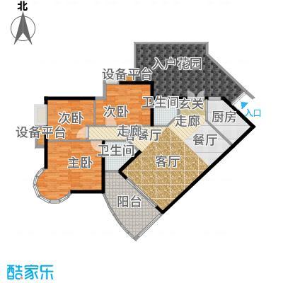 华彩俊豪118.87㎡3X2错层带入户花面积11887m户型