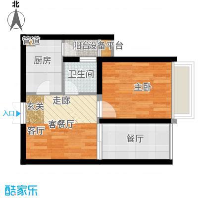华彩俊豪41.46㎡1X1I面积4146m户型