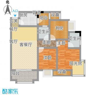 书香美舍89.00㎡2面积8900m户型
