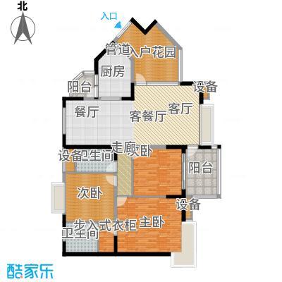 中兴渝景苑114.50㎡C152面积11450m户型