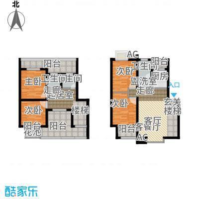 长青湖茶花小镇123.35㎡F型2面积12335m户型