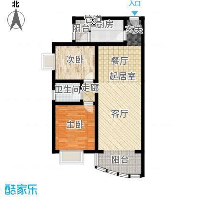 昌福盛景郦城79.22㎡一号楼E面积7922m户型