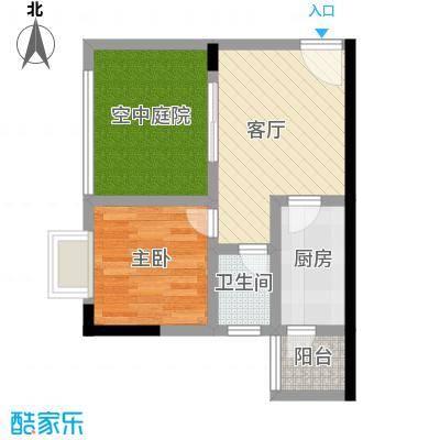 昌福盛景郦城47.08㎡D1面积4708m户型