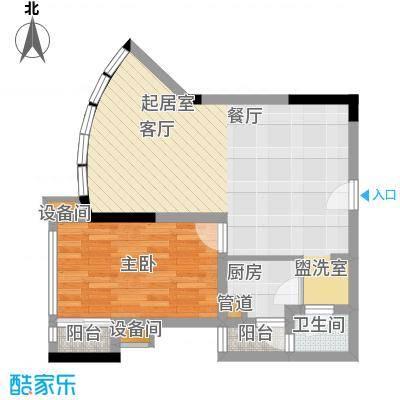 南滨国际59.63㎡一期A栋/B栋标准层G户型