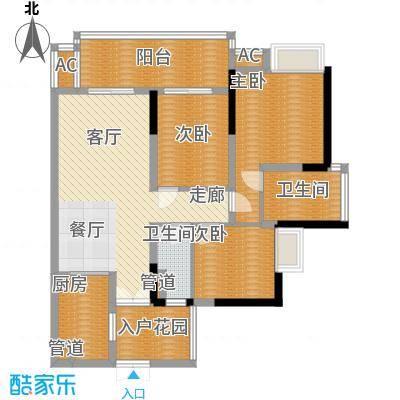 富力现代广场93.77㎡A2面积9377m户型