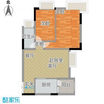 富力现代广场71.52㎡二期12号楼面积7152m户型