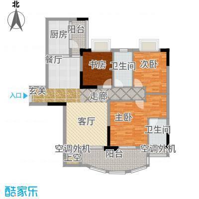 长安麒麟公馆105.19㎡2号楼2号房面积10519m户型