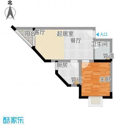 南滨国际41.87㎡一期A栋/B栋标准层C户型