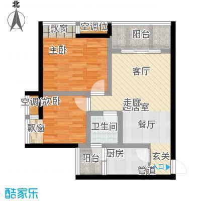 千山美林66.97㎡三期18、19号楼标准层7号房户型