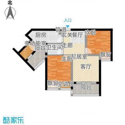 千山美林78.30㎡三期18、19号楼标准层8号房户型