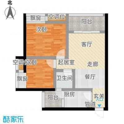 千山美林67.27㎡三期18、19号楼标准层1号房户型