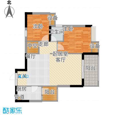 明华龙洲半岛四期老街古镇86.19㎡一期3、4、5栋标准层10号房户型
