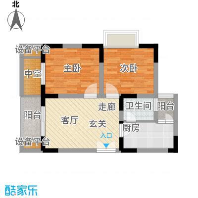 渝洲新城50.08㎡A面积5008m户型