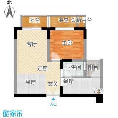 渝洲新城46.51㎡D面积4651m户型