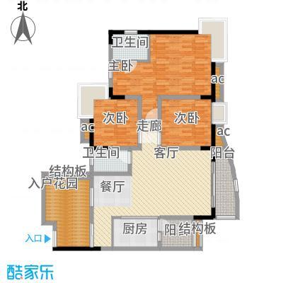 晋愉绿岛105.63㎡A-03[8栋]2面积10563m户型