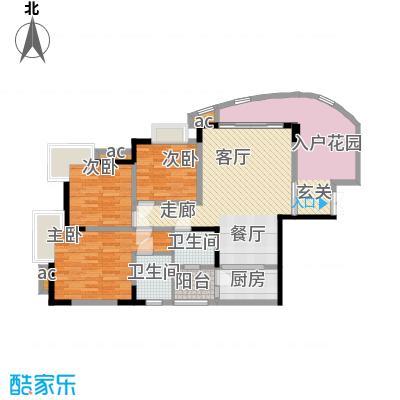 晋愉绿岛92.73㎡A-02[8栋]2面积9273m户型