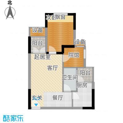 明华龙洲半岛四期老街古镇60.70㎡一期1、2栋标准层6/7号房户型