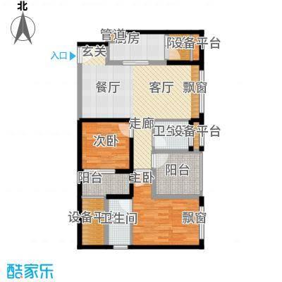 世纪金马MINI时代88.85㎡一期5、6号楼标准层08户型