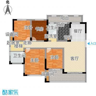 江山领秀143.00㎡一期1号楼跃层洋房C3户型