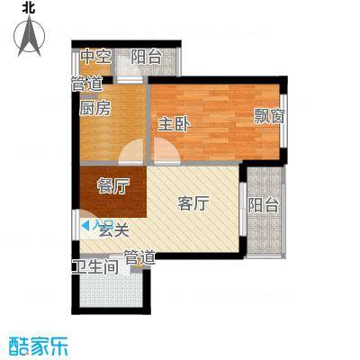 世纪金马MINI时代49.22㎡一期5、6号楼标准层06户型