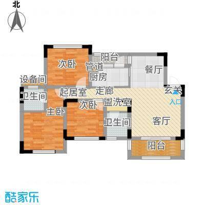 江山领秀118.00㎡一期1/2/12-15号楼标准层洋房B1户型