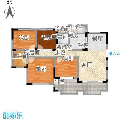江山领秀137.00㎡一期1号楼标准层洋房C1户型